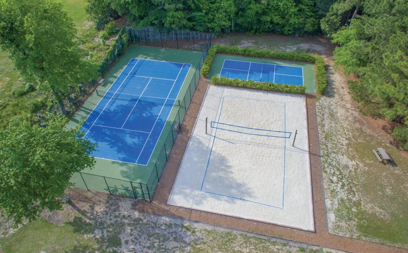 Beachwoods Resort Tennis and Volley Ball Courts