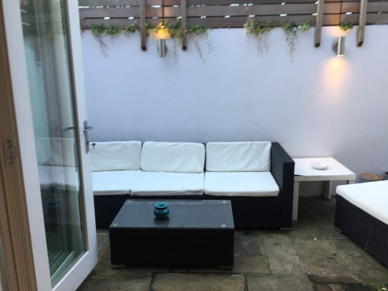 Outside Patio that opens out from sitting room