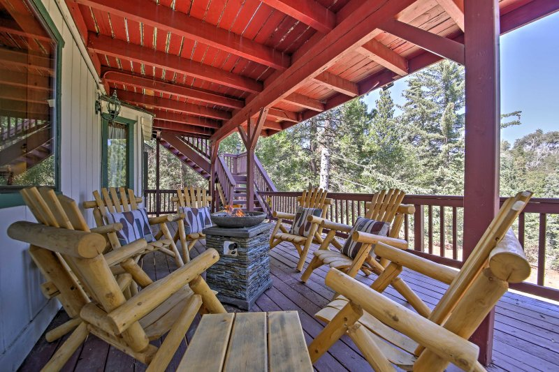 An adventurous getaway awaits you at this 5-bedroom, 3-bath vacation rental home in Lake Arrowhead!