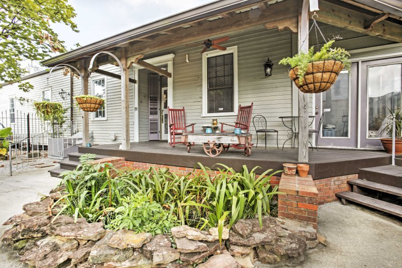 Take a trip to this vacation rental - a home in the heart of the art district!