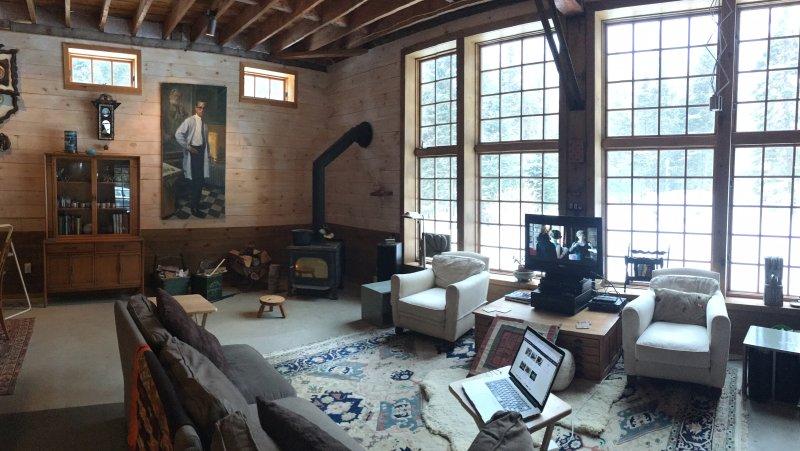 La gran sala en el interior ...