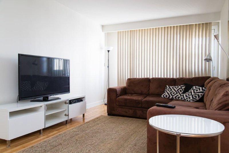 Grand salon et spacieux. 50 pouces Plasma TV.