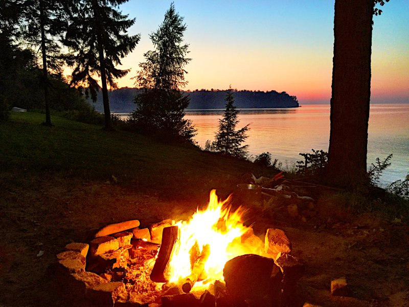 We have great sunset and a wonderful fire pit to enjoy them.