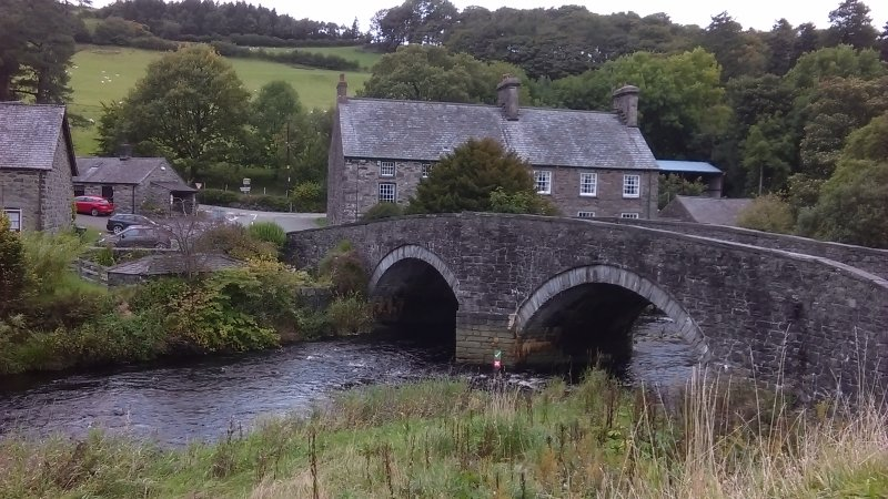 Bridge over the River Conwy in Ysbyty Ifan