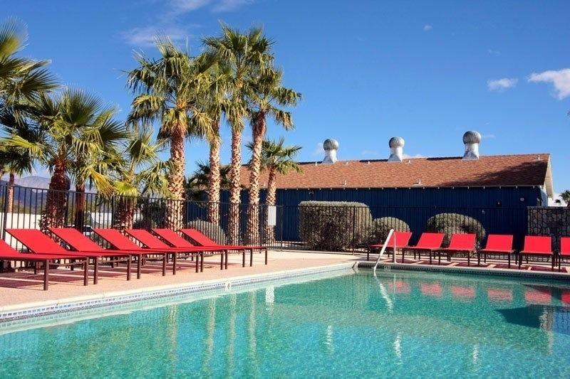 Palm Canyon Resort Pool With Sitting