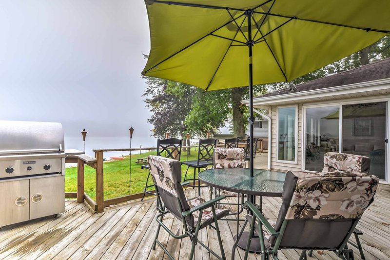 Your dream getaway awaits you at this lakefront 4-bedroom, 2-bath vacation rental home located right on Long Lake!