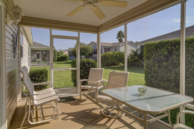 Enjoy a  peaceful Sunshine State retreat from this 3-bedroom, 2-bathroom vacation rental house in The Villages, Florida!