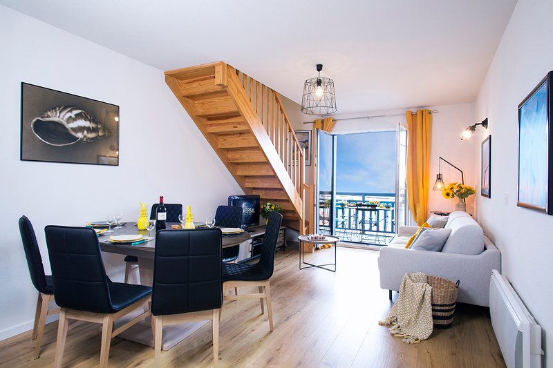 Magnifique appartement idéalement situé 1ere ligne mer–piscine - Jacuzzi, location de vacances à Biscarrosse