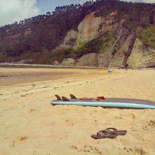 Playa  de Rodiles  a 20mts  de la casa .Villaviciosa.