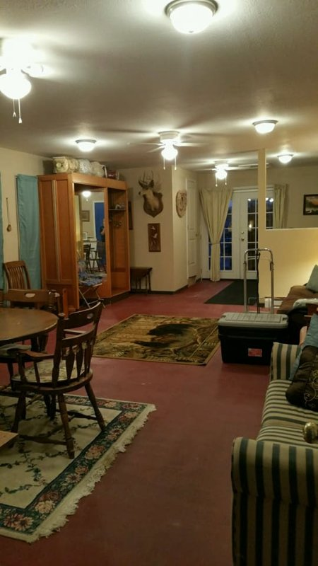 Welcome to Honeysuckle Lodge. 550 square feet of family fun.