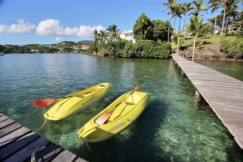 Kayaks provided by the owners