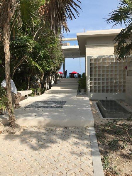 Walkway to Beach Club.