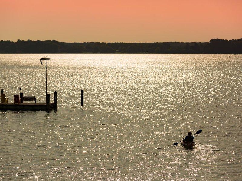 Sur le bord de la baie, avec le meilleur lever du soleil. Kayak avec nos 4 kayaks disponibles pour que vous puissiez utiliser.