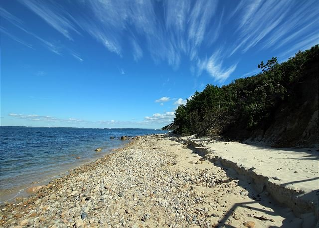 PRIVATE BEACHFRONT HOUSE WITH PANORAMIC VIEWS OF VINEYARD SOUND, holiday rental in West Tisbury