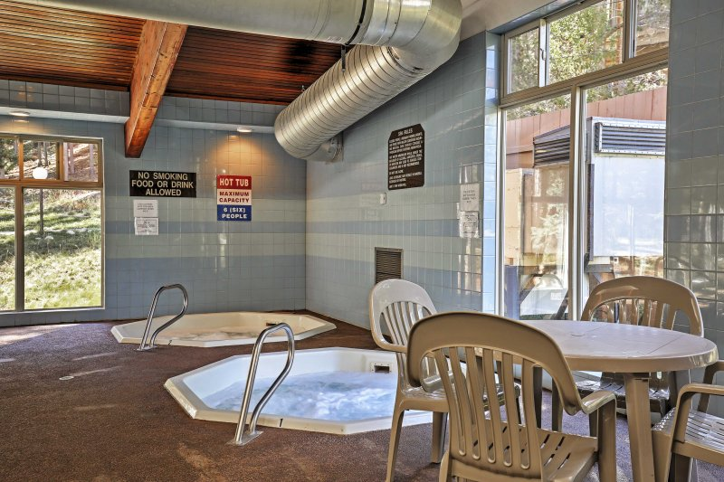 Soak your sore muscles in one of the community's 3 private hot tubs.