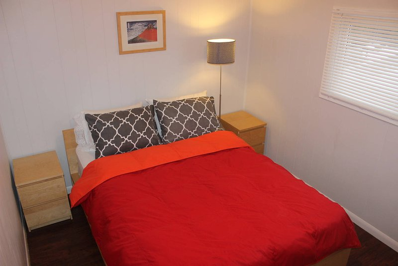 Queen bed with closet