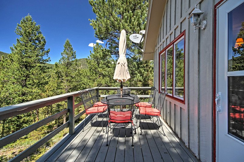 Spend time outdoors on your private wraparound deck.