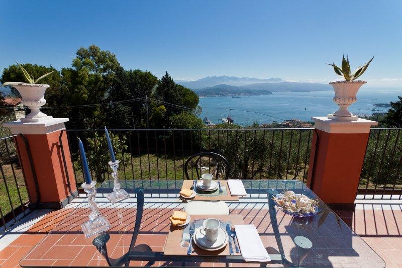 Venere azzurra, bright apartment in villa near Cinque Terre, holiday rental in Biassa