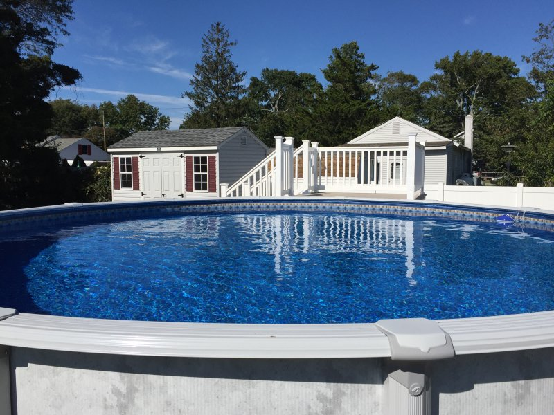 New 21 foot pool with deck