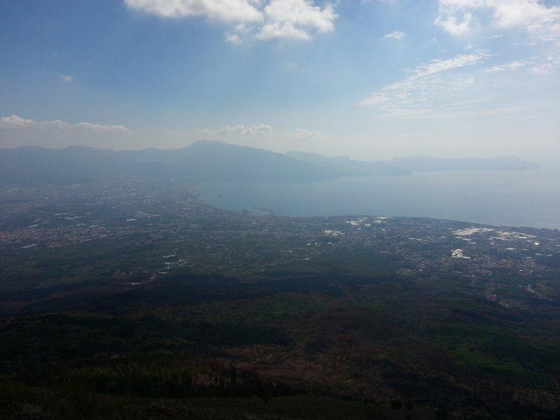 Panorama da costa Vesúvio Sorrento
