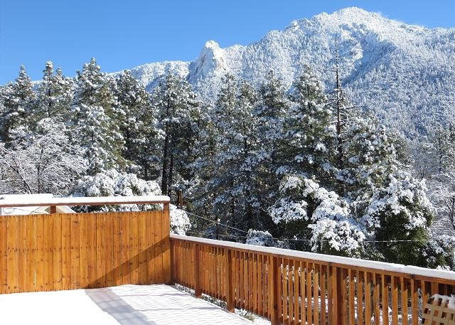 Snowy day up in Idyllwild