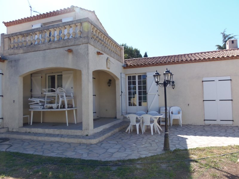 terrace behind the villa