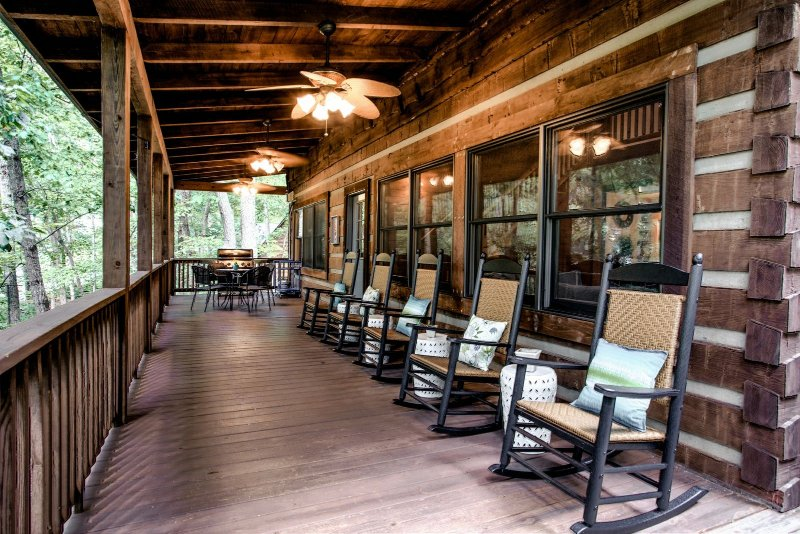 Expansive covered deck for morning coffees or evening conversations.