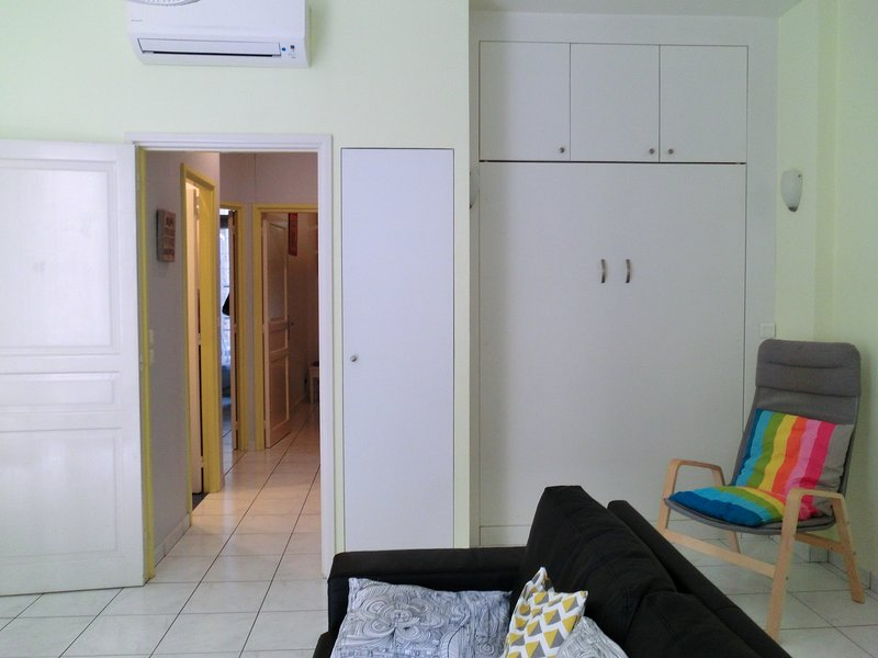 A hall which opens every room including the living room / living room