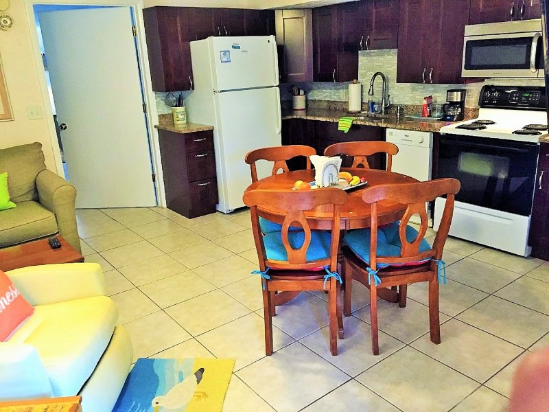 New renovation. Absolutely beautiful! 2 recliners 3 TV's all with DVD. Deluxe kitchen! granite tops