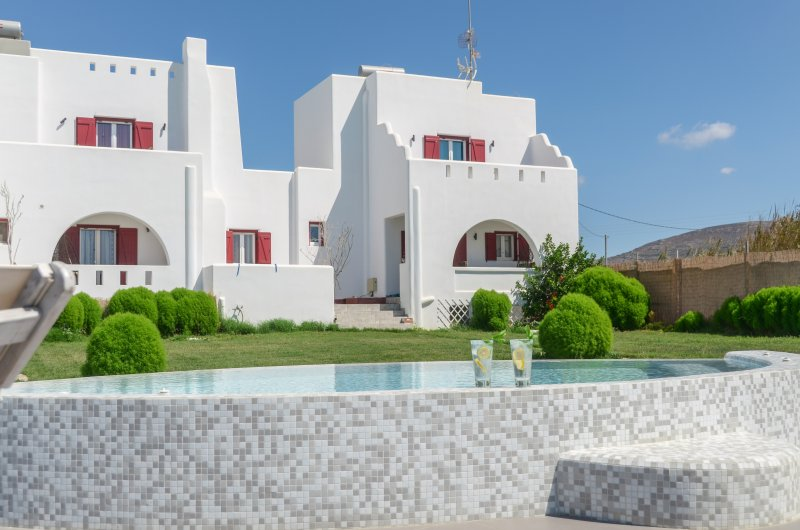 Depis Edem Red Villa Deluxe Residence with Sea View and Jacuzzi/Naxos, holiday rental in Plaka