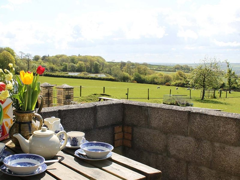 THE BUSHEL barn conversion, all on one level, rural countryside, near Bideford – semesterbostad i Bucks Cross