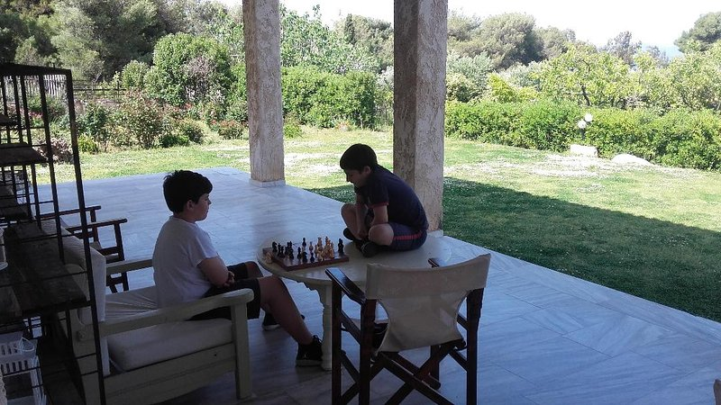 Chilling playing chess!