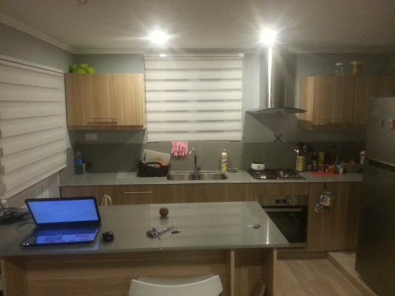 Night view of the kitchen