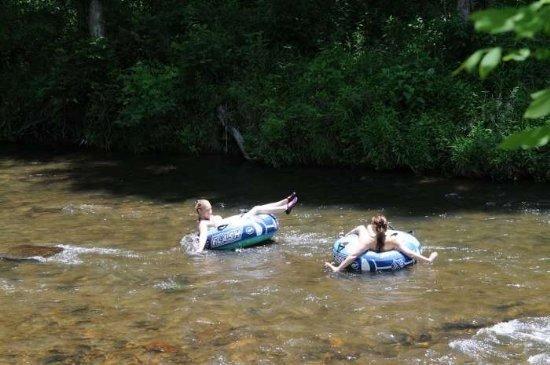 Tubers on the Tuckaseegee River in Western North Carolina
