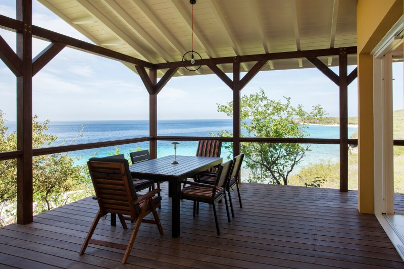 Stunning view from your porch overlooking the Caribbean Ocean.