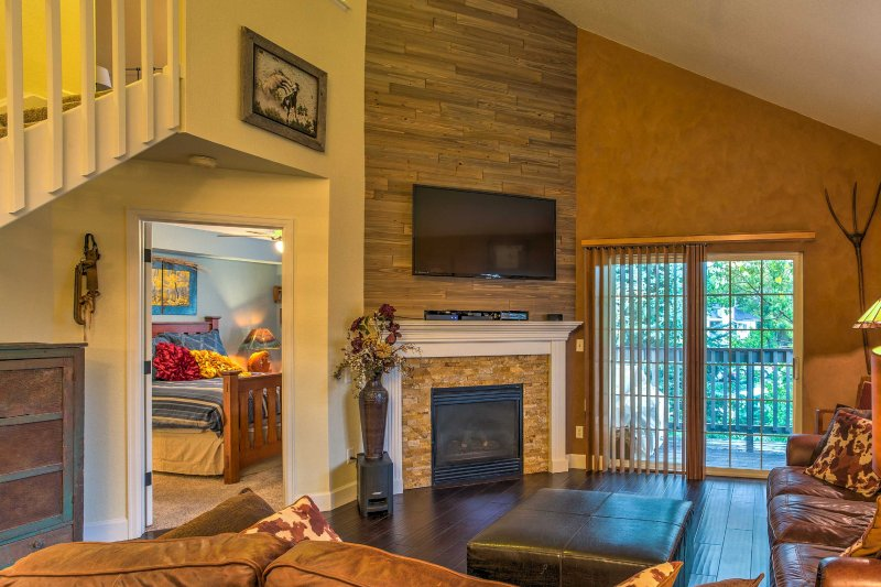 A remodeled, open-concept living space with high-end amenities and tasteful decor welcome you inside this Steamboat Springs vacation rental condo.