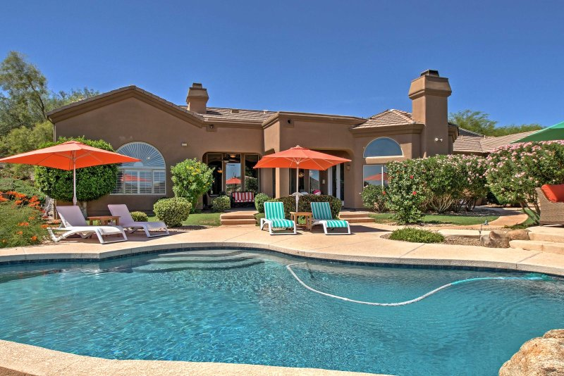 Your Scottsdale retreat begins with this beautiful vacation rental house!