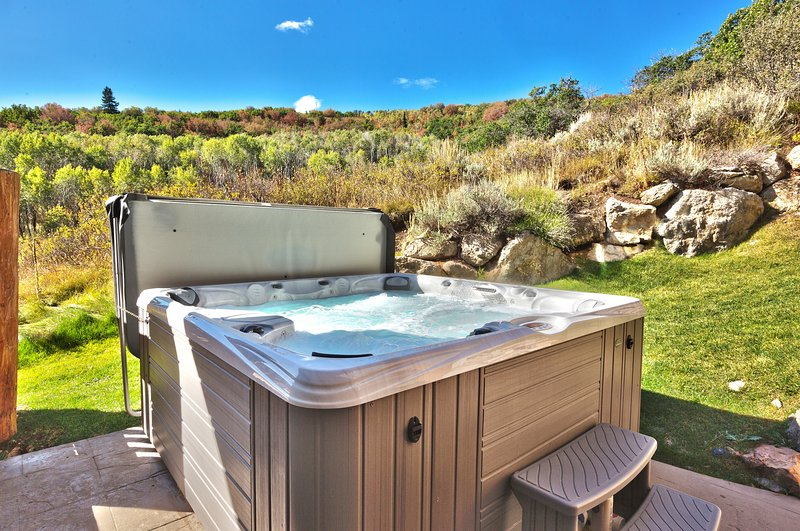 Spend your evening soaking aching muscles in the hot tub after days in Park City