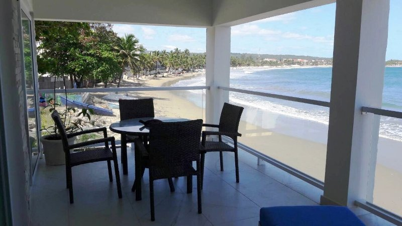 New 2BD Beachfront Condo in Central Cabarete, Sea Views, Near Everything!, vacation rental in Cabarete