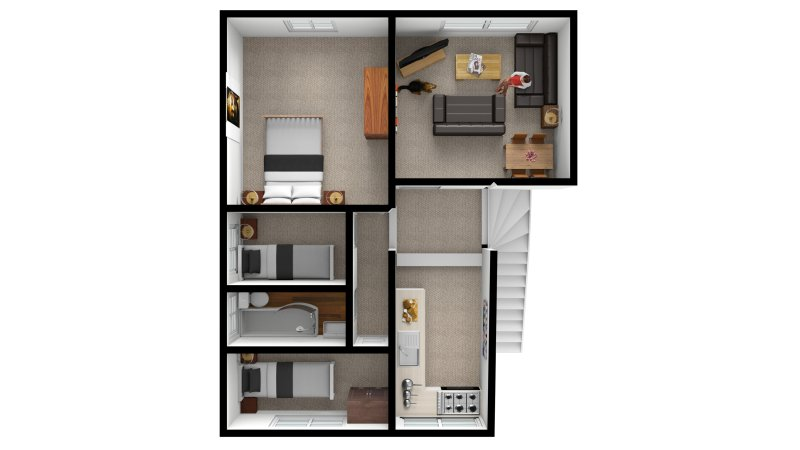 Floor Plan of Apartment 3 - Bedford House Apartments, Torquay.