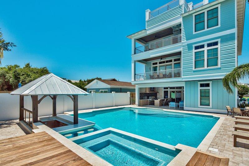 Canopy, Gebäude, Pavillon, Pool, Resort