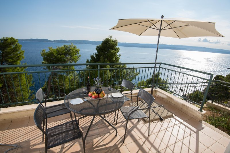 Apartment Andrea with breskfast and private beach Split, vacation rental in Marusici