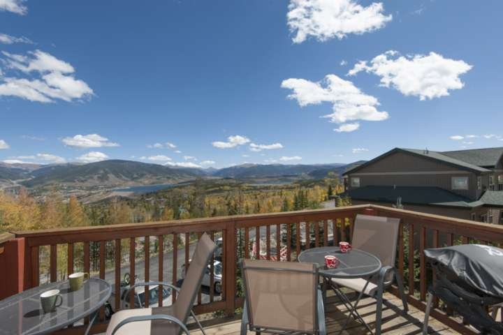 Condo Deck Views Of Mountains And Lake Dillon