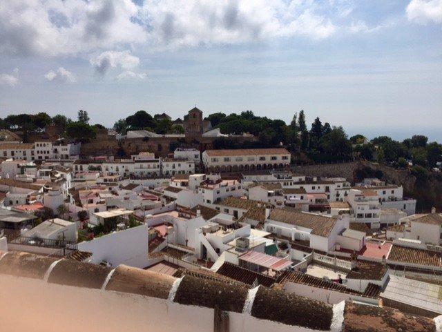 Vista de Mijas desde la terraza