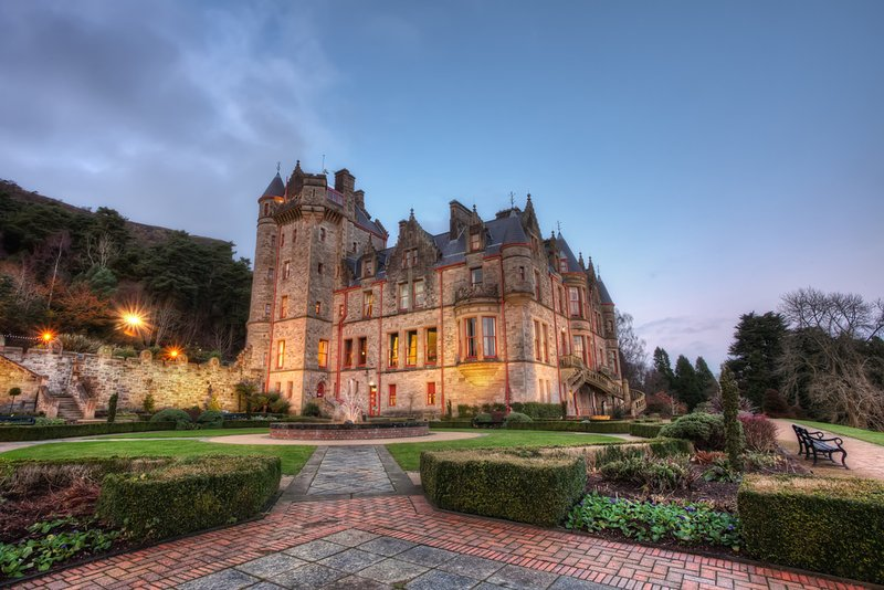Belfast Castle and gardens are a must see, less than 2 hours away