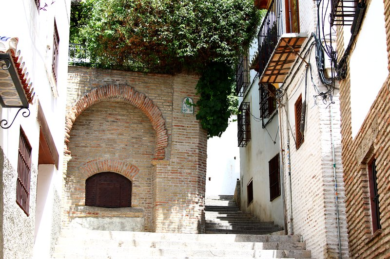 Another access road to the apartment with the Aljibe de Trillo fourteenth century