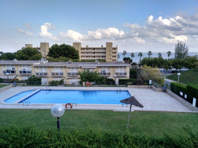 Communal swimming pool.