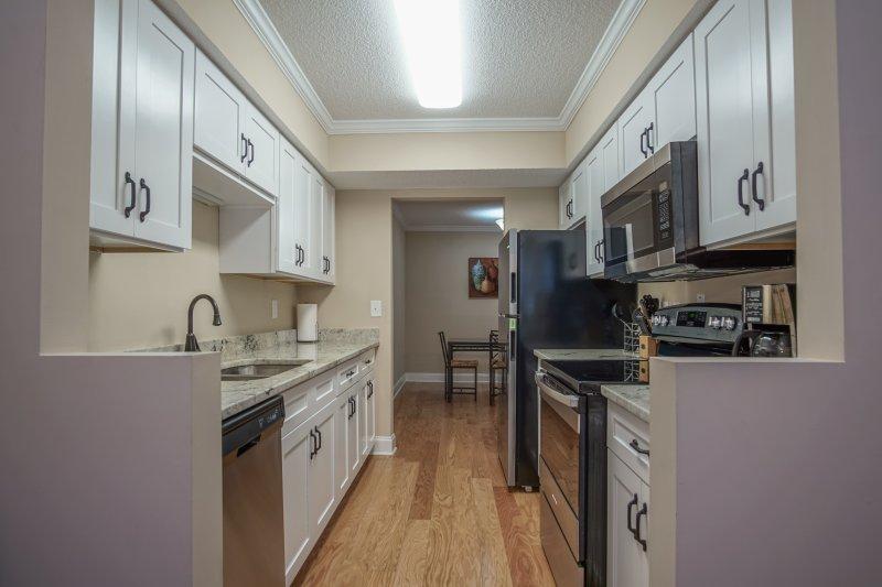 vista cozinha da sala de estar