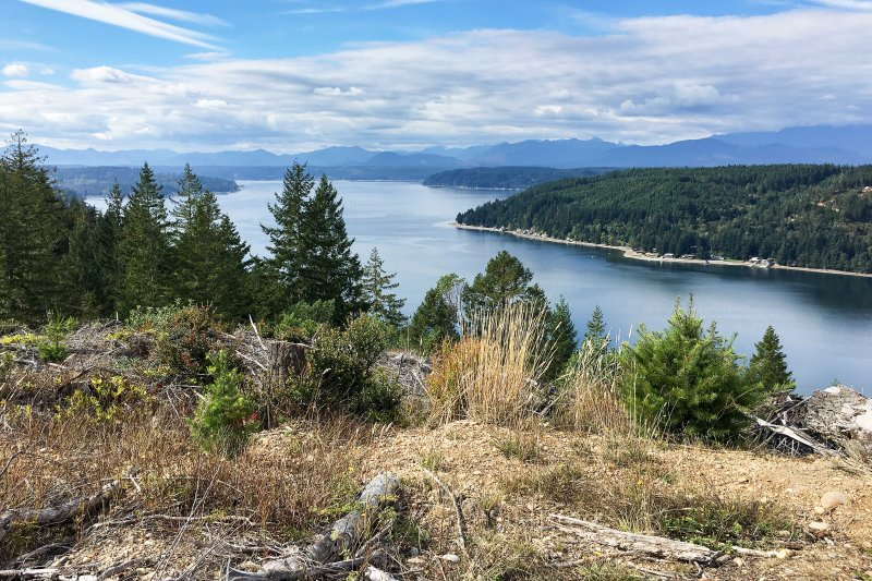 Hiking above Hood Canal.