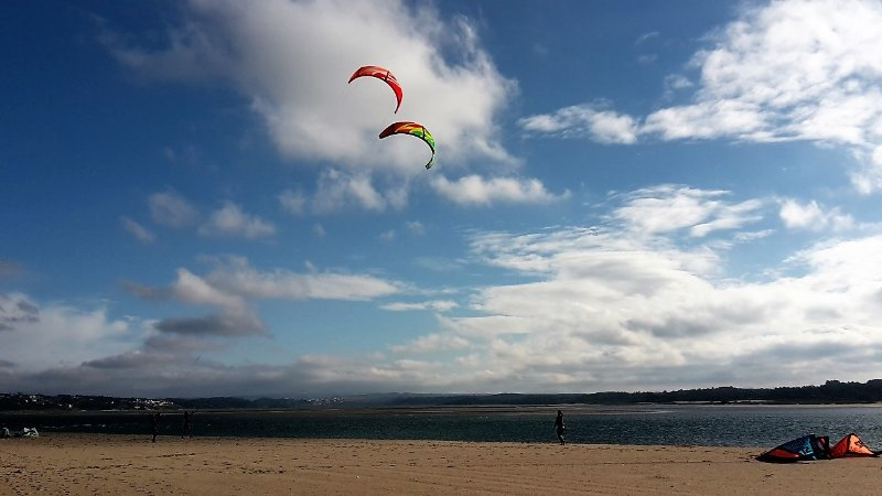 Kite surf sur la lagune